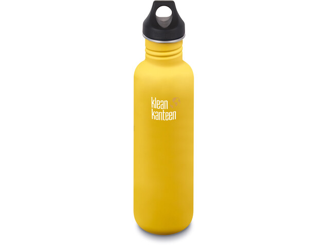 Klean Kanteen Classic Bidon Korek z uszkiem 800ml 2019, lemon curry matt